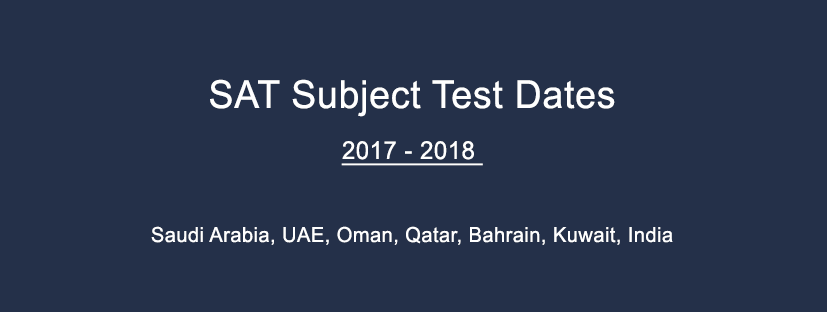 Sat subject test dates in Sydney